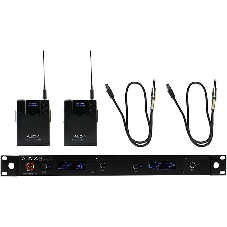 AudixAP42 Dual GUITAR Instrument Wireless System518-554 MHz