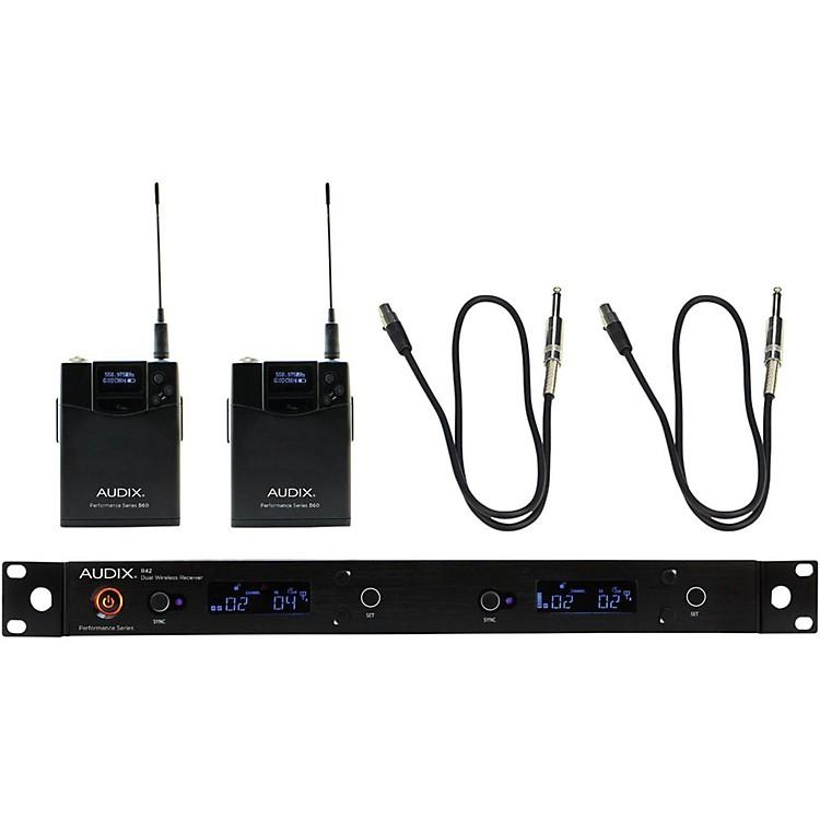 AudixAP42 Dual GUITAR Instrument Wireless System554-586 MHz