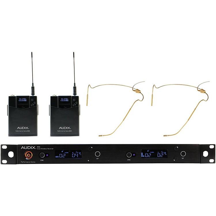 AudixAP42 HT5BG Dual Headset Wireless System - Beige518-554 MHz