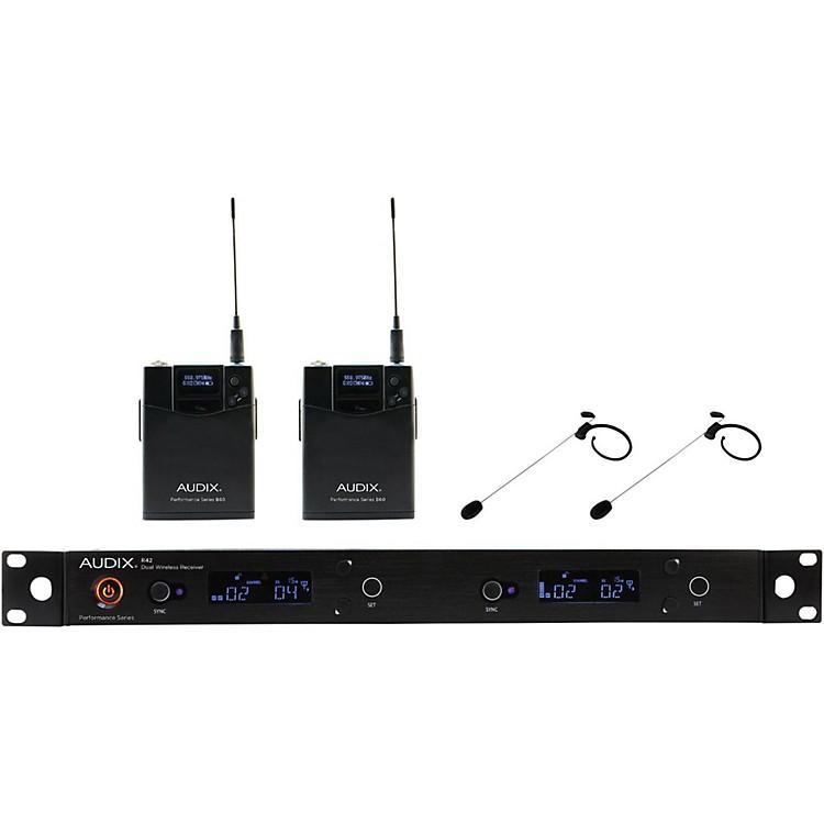 AudixAP42HT7 Dual Headset Wireless system w/ HT7 Omni Condenser mic554-586 MHzBlack
