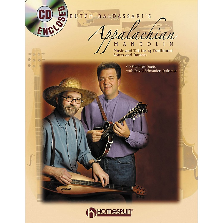 Homespun APPALACHIAN MANDOLIN & DULCIMER BOOK/CD