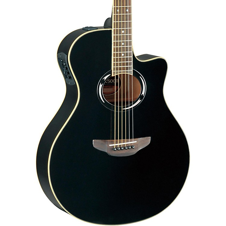 Yamaha APX500II Thinline Cutaway Acoustic-Electric Guitar Black