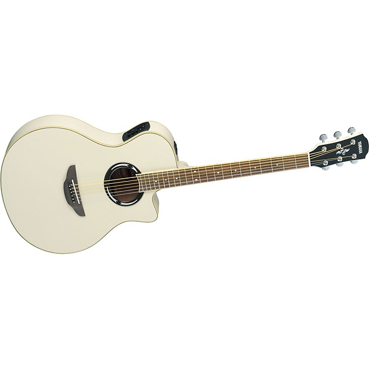 Yamaha APX500II Thinline Cutaway Acoustic-Electric Guitar Vintage White
