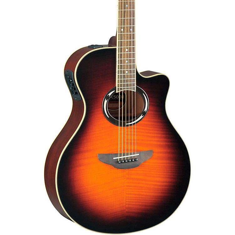 Yamaha APX500IIFM Flame Maple Thinline Cutaway Acoustic-Electric Guitar