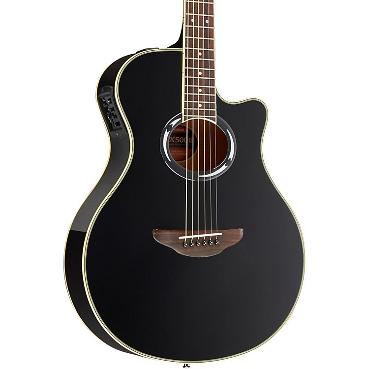 Yamaha APX500III Thinline Cutaway Acoustic-Electric Guitar Black
