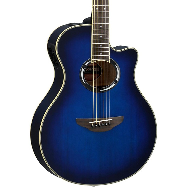 yamaha apx500iii thinline cutaway acoustic electric guitar music123. Black Bedroom Furniture Sets. Home Design Ideas