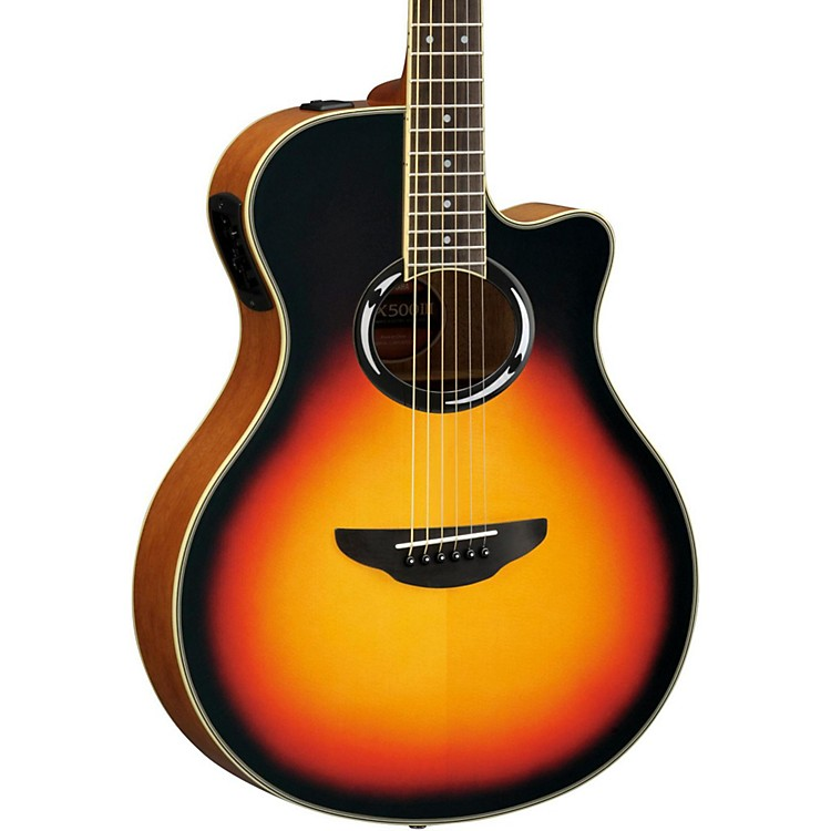 Yamaha APX500III Thinline Cutaway Acoustic-Electric Guitar Vintage Sunburst