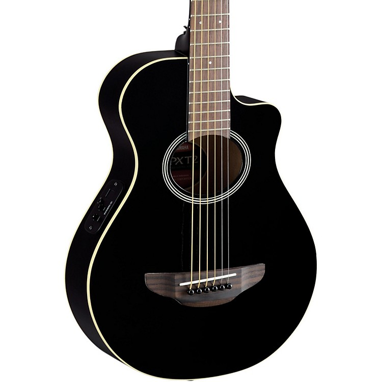 Yamaha APXT2 3/4 Thinline Acoustic-Electric Cutaway Guitar Black