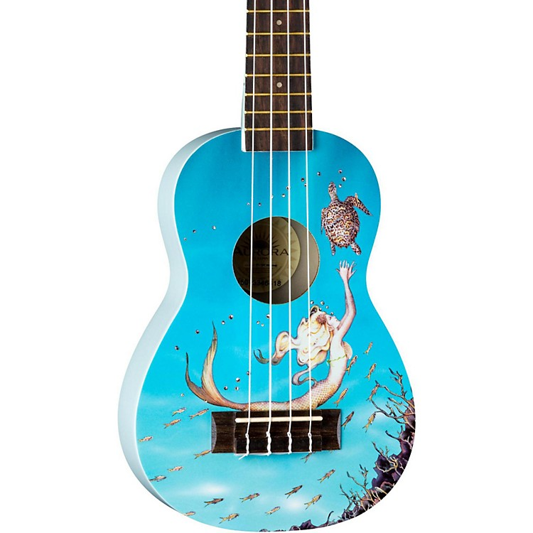 Luna Guitars AR2 Aurora Ukulele Mermaid Graphic