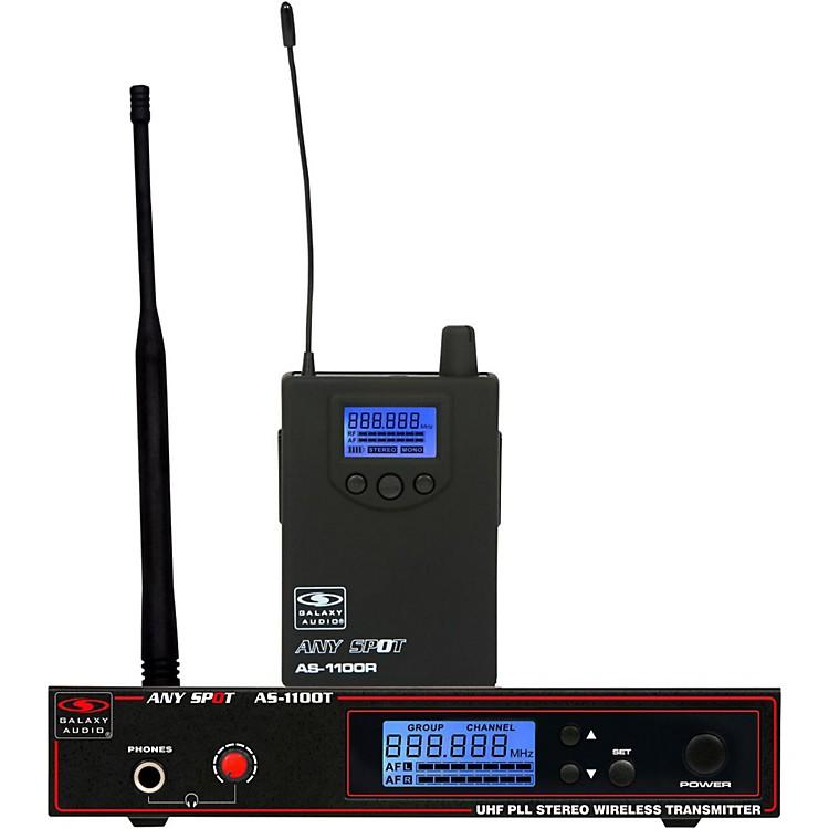Galaxy AudioAS-1100 UHF Wireless Personal MonitorCh D
