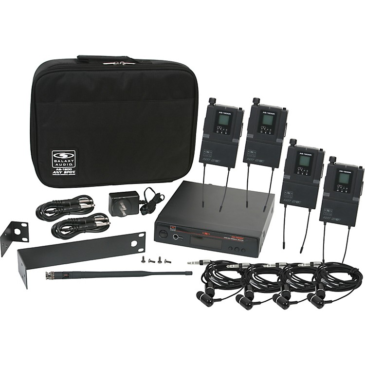Galaxy Audio AS-1800-4 Band Pack Wireless System Freq. Code B3
