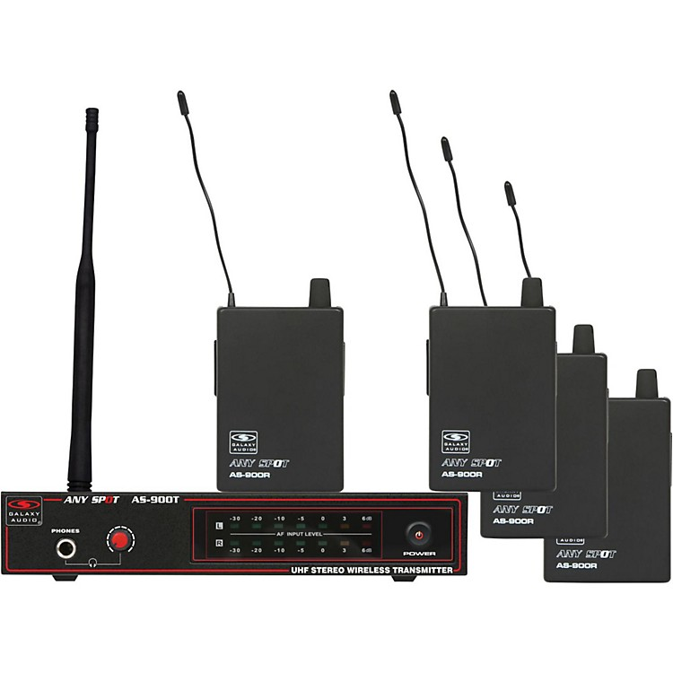 Galaxy Audio AS-900-4 Band Pack Wireless System Band K5