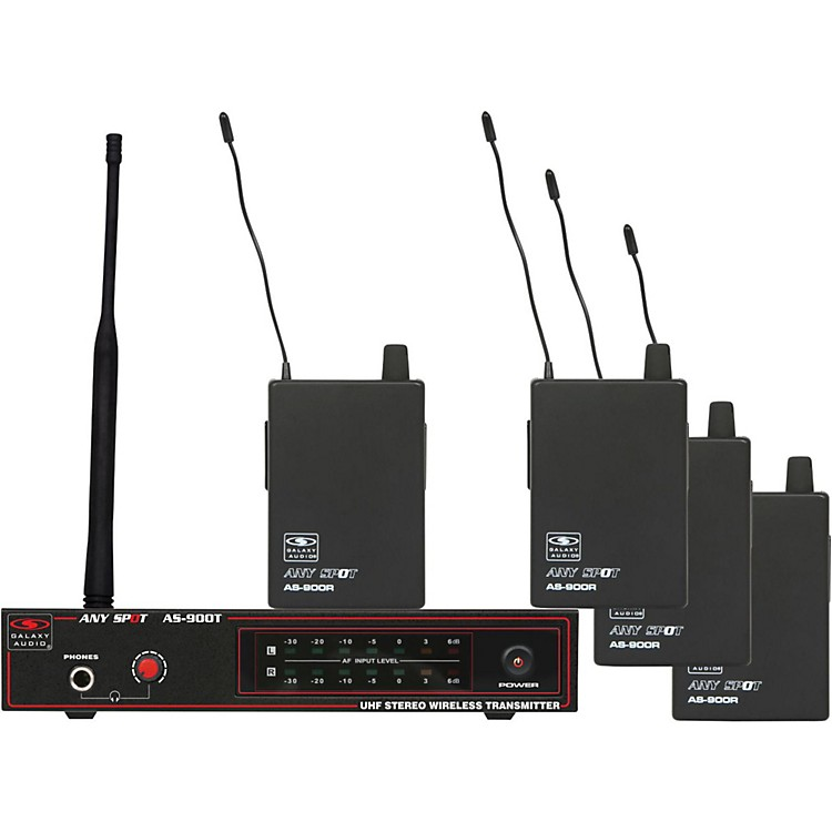 Galaxy Audio AS-900-4 Band Pack Wireless System K7