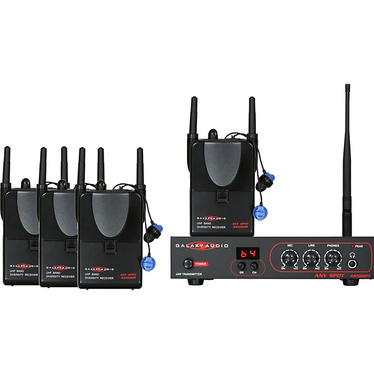 Galaxy AudioAS-ALS-4 Any Spot Band Pack Monitor System