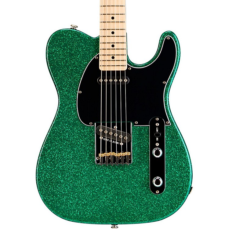 G&LASAT Classic Electric GuitarGreen Metal Flake