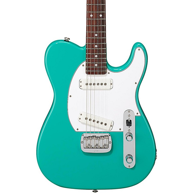 G&LASAT Special Rosewood Fingerboard Electric GuitarBelair Green3-ply White Pickguard