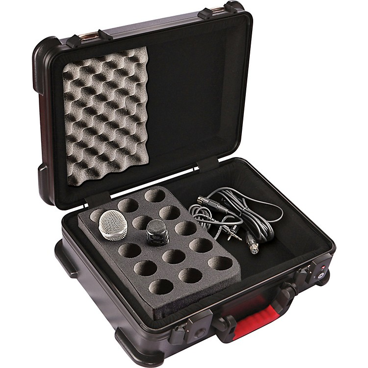 Gator ATA Molded Microphone Case With Drops for 15 Mics