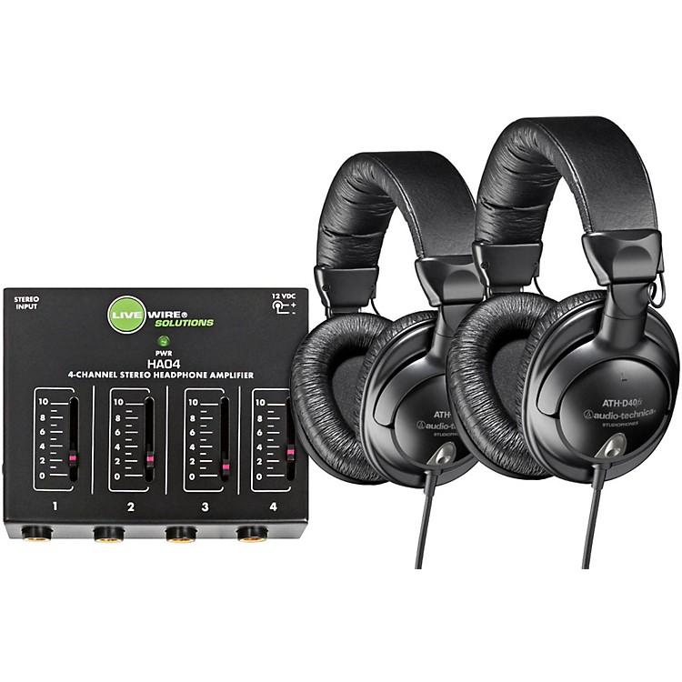 Audio-TechnicaATH-D40fs Pair with Headphone Amp