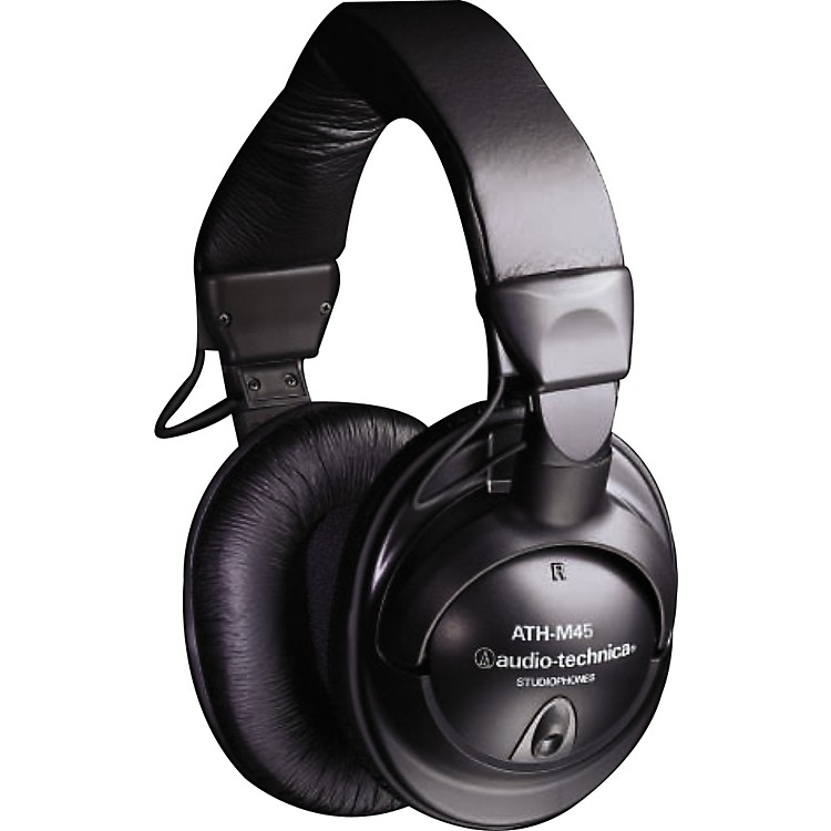 Audio-Technica ATH-M45 Studio Monitor Headphones (Black)
