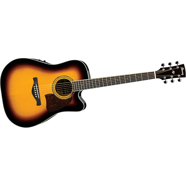 IbanezAW300ECE Artwood Solid Top Dreadnought Cutaway Acoustic-Electric Guitar