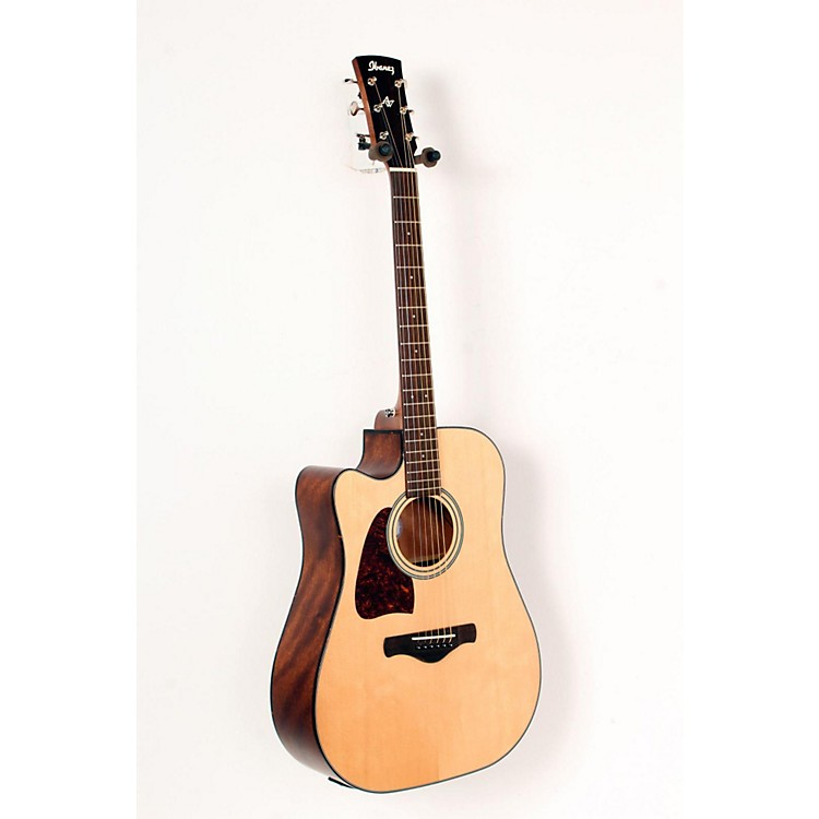 Ibanez AW400CENT Artwood Solid Top Dreadnought Left-Handed Acoustic-Electric Guitar Natural 888365695884