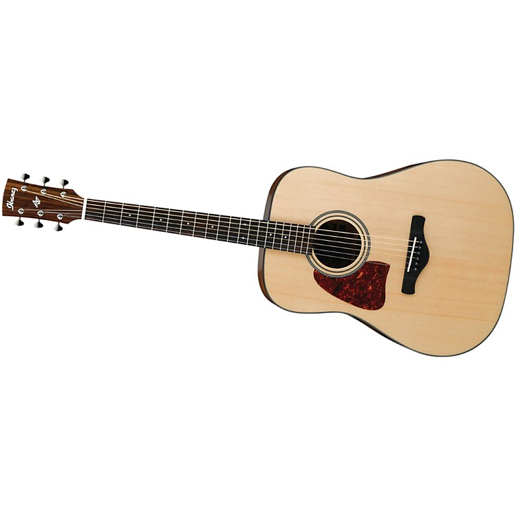 IbanezAW400LNT Artwood Solid Top Dreadnought Left-Handed Acoustic GuitarNatural