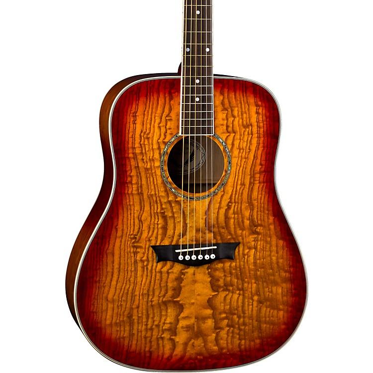 DeanAXS Dreadnought Quilt Acoustic GuitarTobacco Sunburst