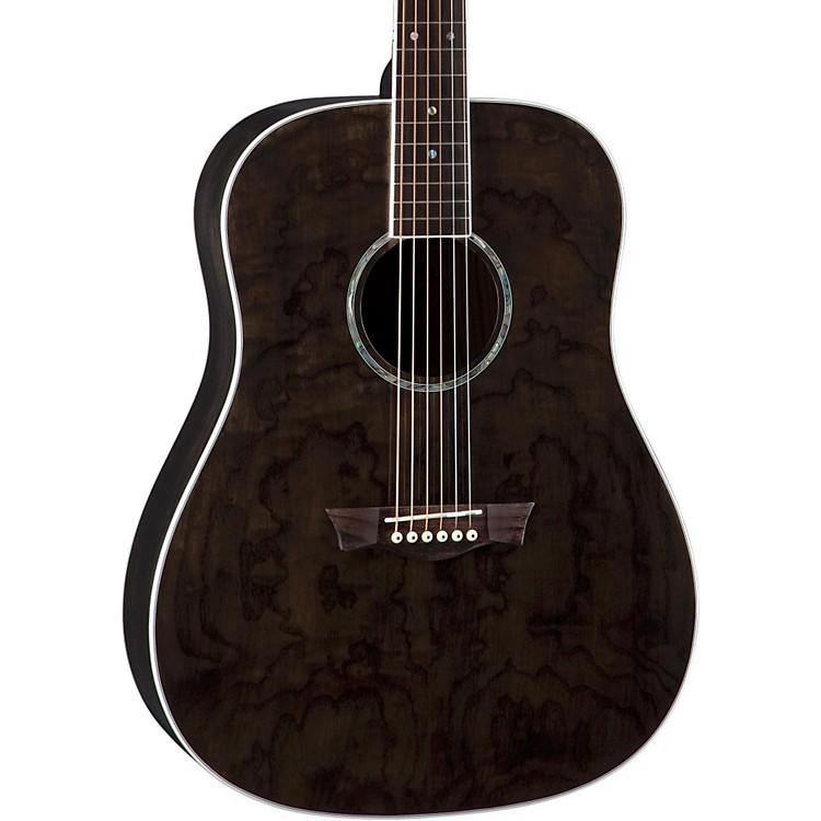 DeanAXS Dreadnought Quilt Acoustic GuitarTransparent Black