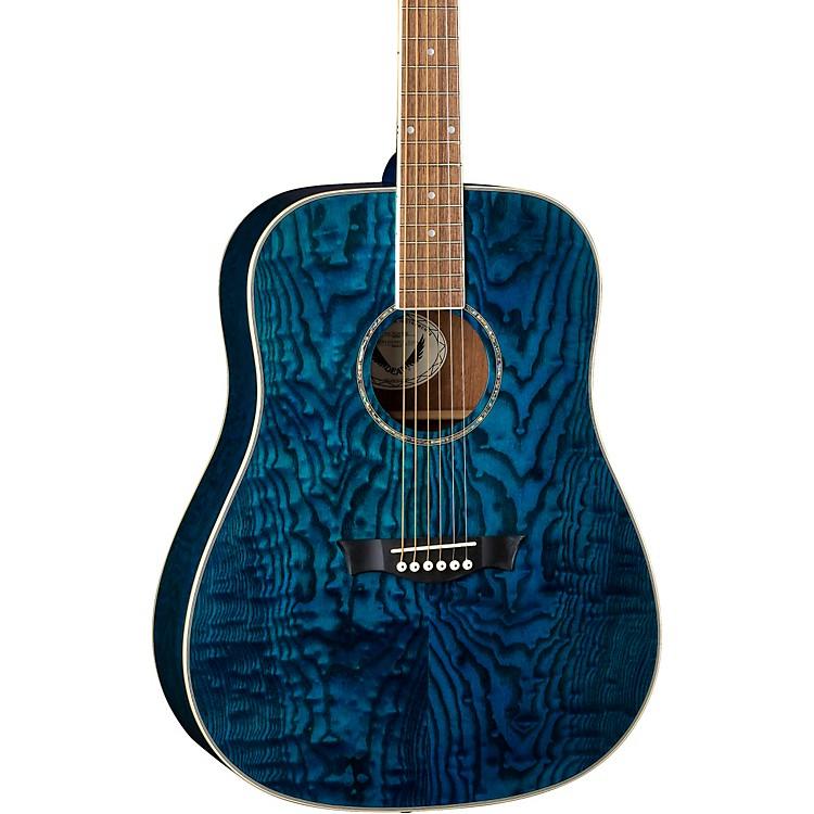 DeanAXS Dreadnought Quilt Acoustic GuitarTransparent Blue