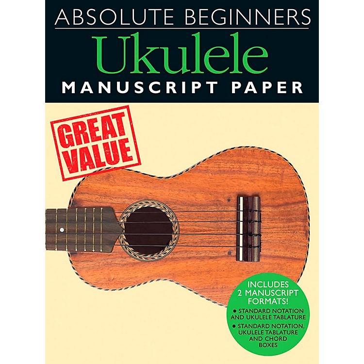 Music SalesAbsolute Beginners - Ukulele Manuscript Paper