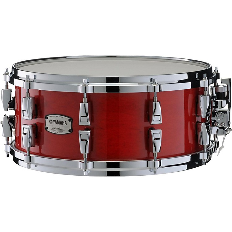 YamahaAbsolute Hybrid Maple Snare Drum14 x 6 in.Red Autumn