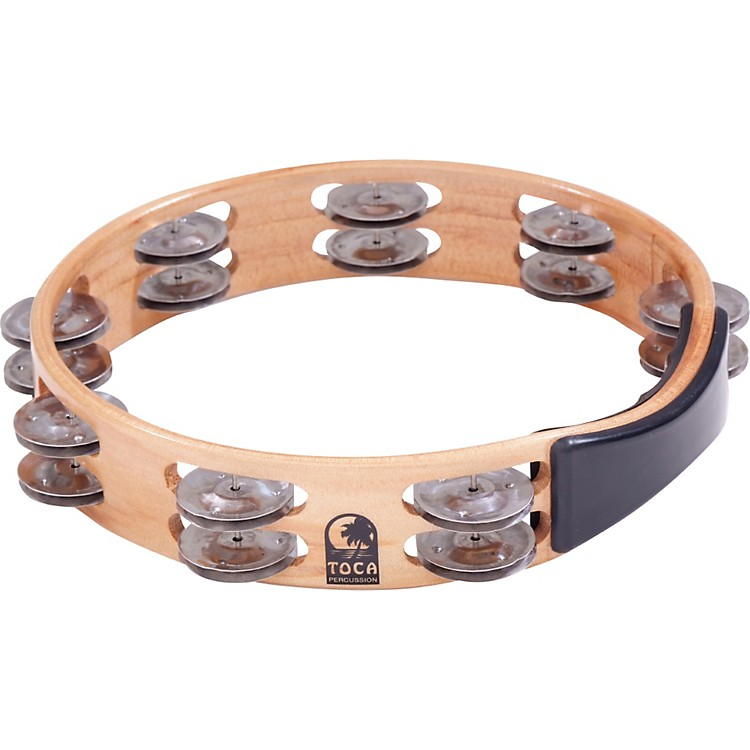 TocaAcacia Wood Double Row Tambourine10 In