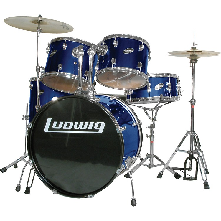 LudwigAccent Combo 5-piece Drum SetBlue