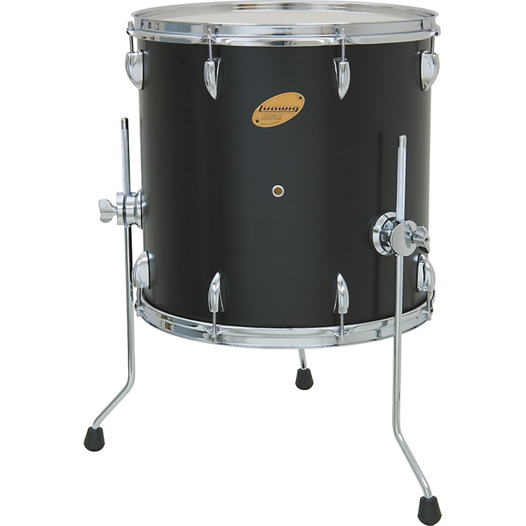 ludwig accent floor tom black 16 x 16 in music123