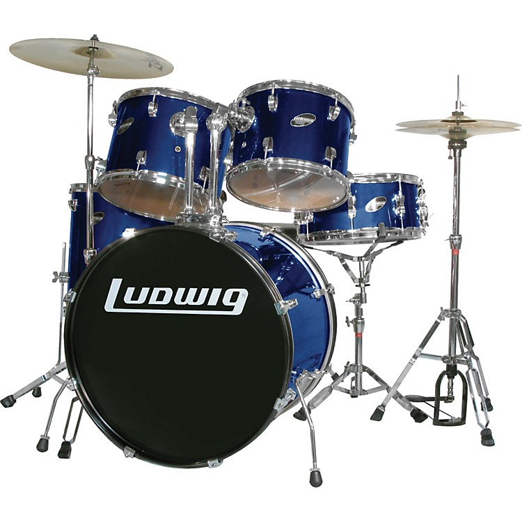 Ludwig Accent Series Complete Drumset Blue