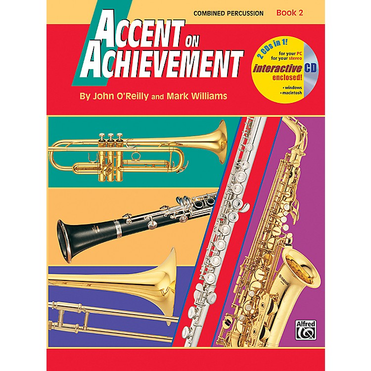 AlfredAccent on Achievement Book 2 Combined PercussionS.D. B.D. Access. Timp. & Mallet Percussion Book & CD