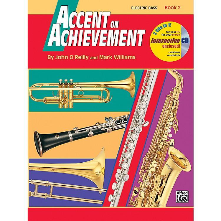 AlfredAccent on Achievement Book 2 Electric Bass Book & CD