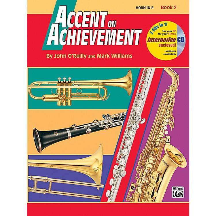 AlfredAccent on Achievement Book 2 Horn in F Book & CD