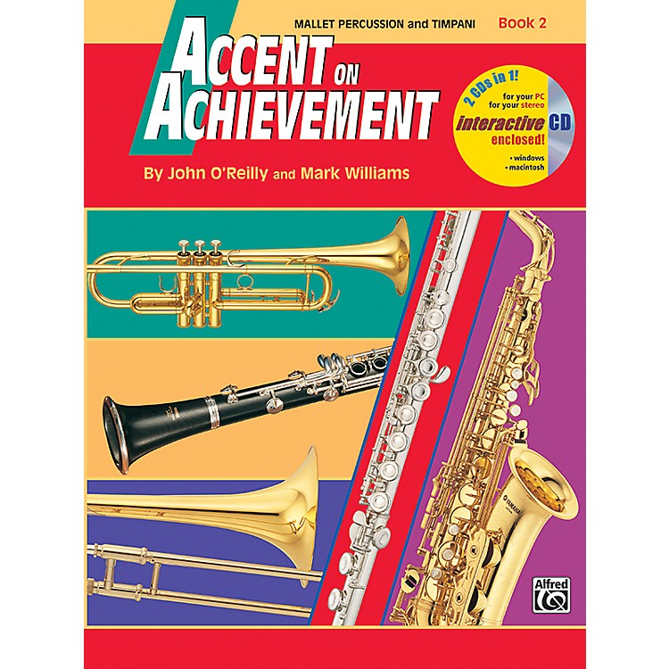 Alfred Accent on Achievement Book 2 Mallet Percussion & Timpani Book & CD