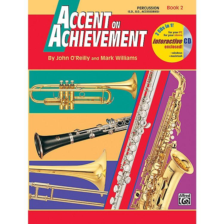 AlfredAccent on Achievement Book 2 PercussionSnare Drum Bass Drum & Accessories Book & CD