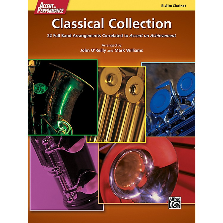 AlfredAccent on Performance Classical Collection Alto Clarinet Book