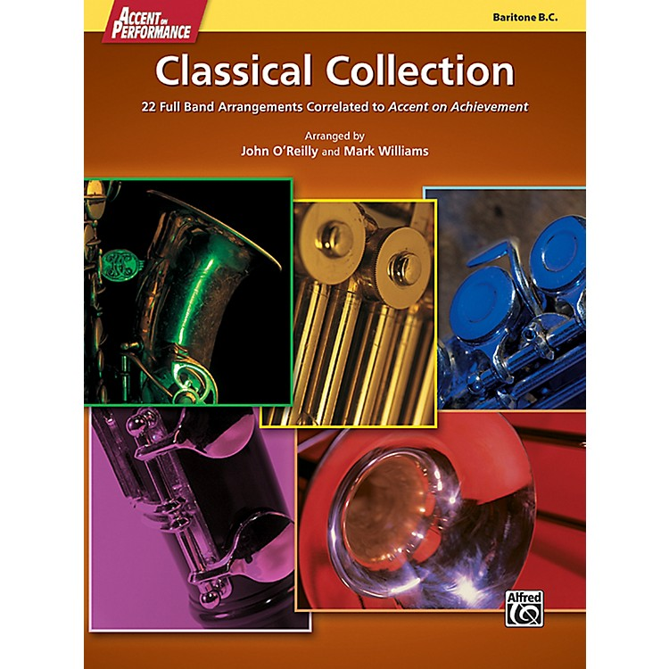 AlfredAccent on Performance Classical Collection Baritone Bass Clef Book