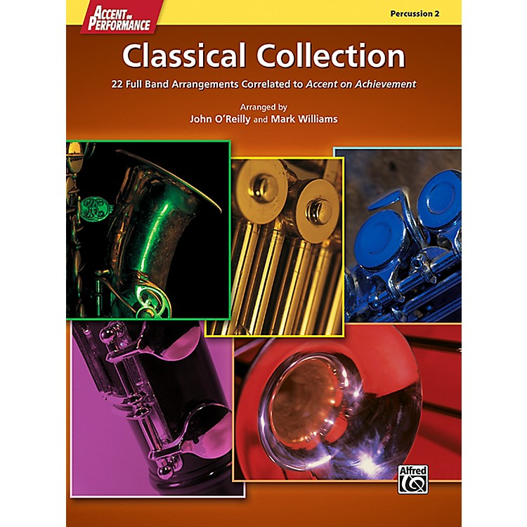 AlfredAccent on Performance Classical Collection Percussion 2 Book