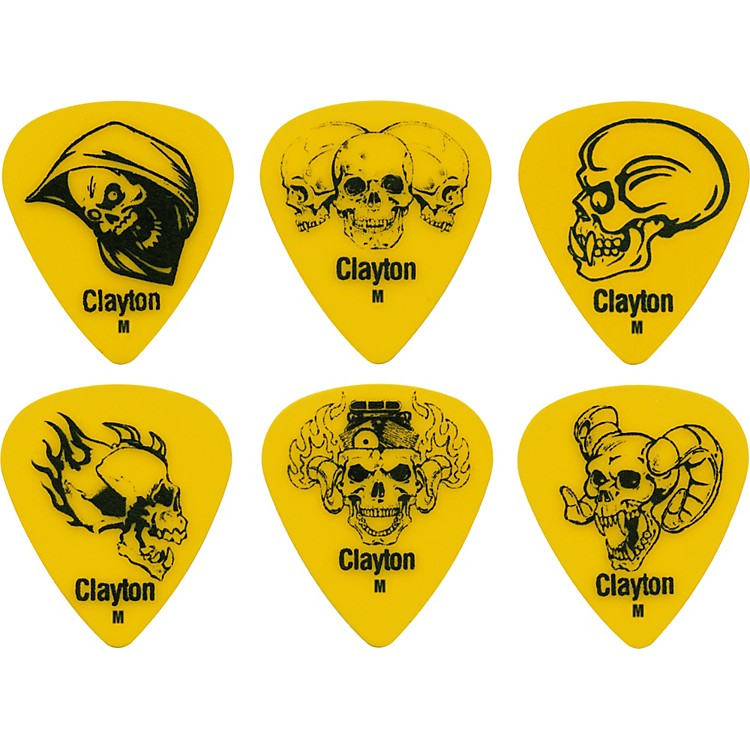 Clayton Acetal Demonic Guitar Picks Yellow Medium