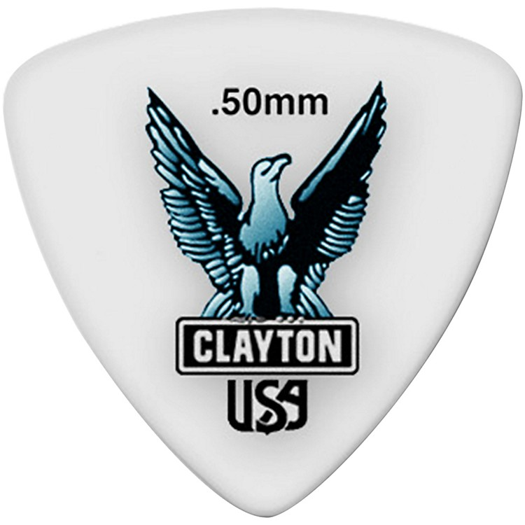 Clayton Acetal Rounded Triangle Guitar Picks .50 mm 1 Dozen