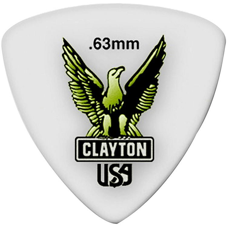 Clayton Acetal Rounded Triangle Guitar Picks .63 mm 1 Dozen