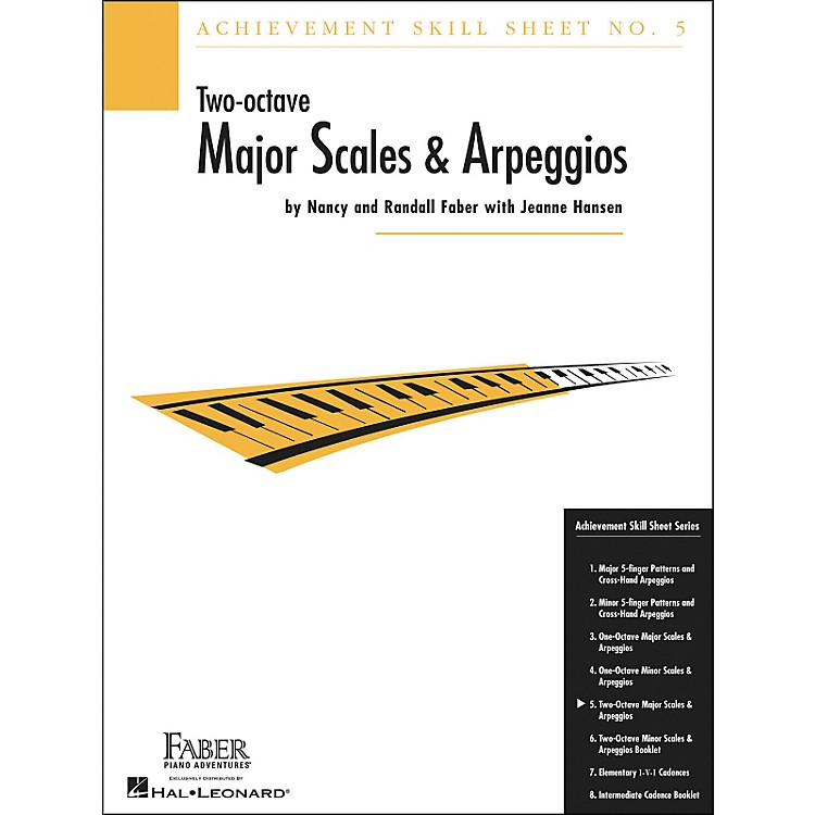Faber Music Achievement Skill Sheet No. 5: Two Octave Major Scales And Arpeggios - Faber Piano