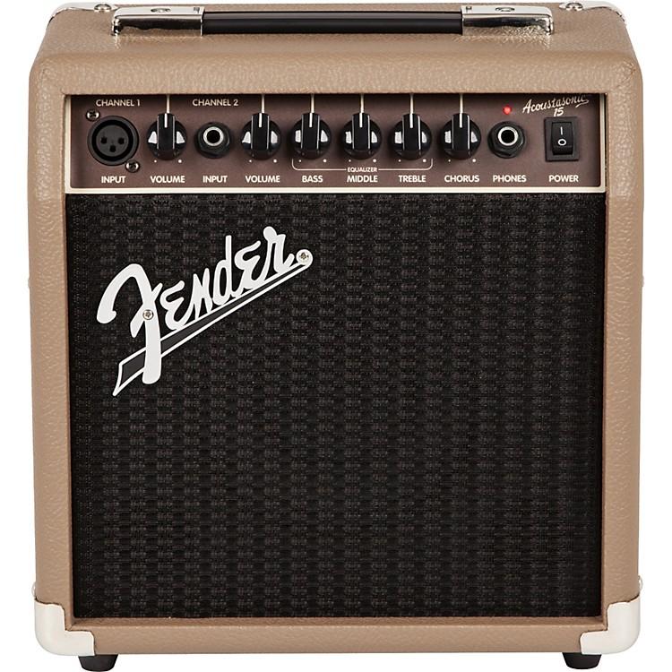 FenderAcoustasonic 15 Acoustic Combo AmpTan