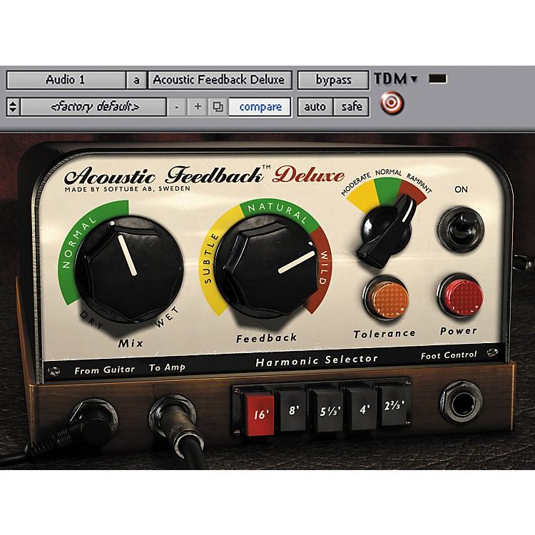 SoftubeAcoustic Feedback Deluxe Plug-in - TDMSoftware  Download