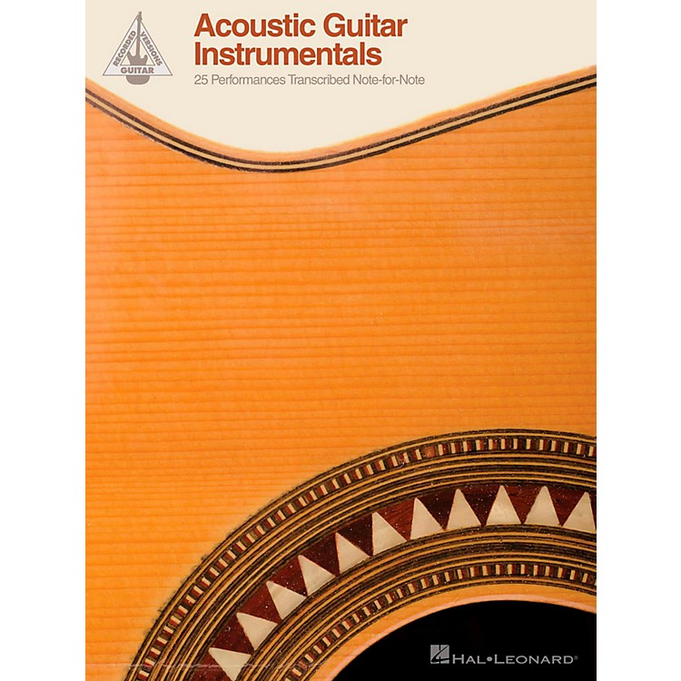 Hal LeonardAcoustic Guitar Instrumentals - 25 Performances Transcribed Note-For-Note